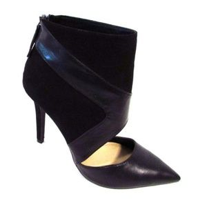 Trafaluc Zip Cuff Stiletto Booties Black